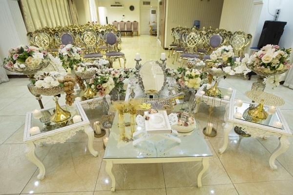 مشاهده سان عقد حلما از نمای عروس و داماد